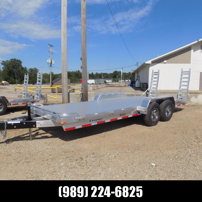 New Legend 7' x 20' Aluminum Equipment Trailer For Sale - 12K Payload - $0 Down & Payments from $145/mo. W.A.C