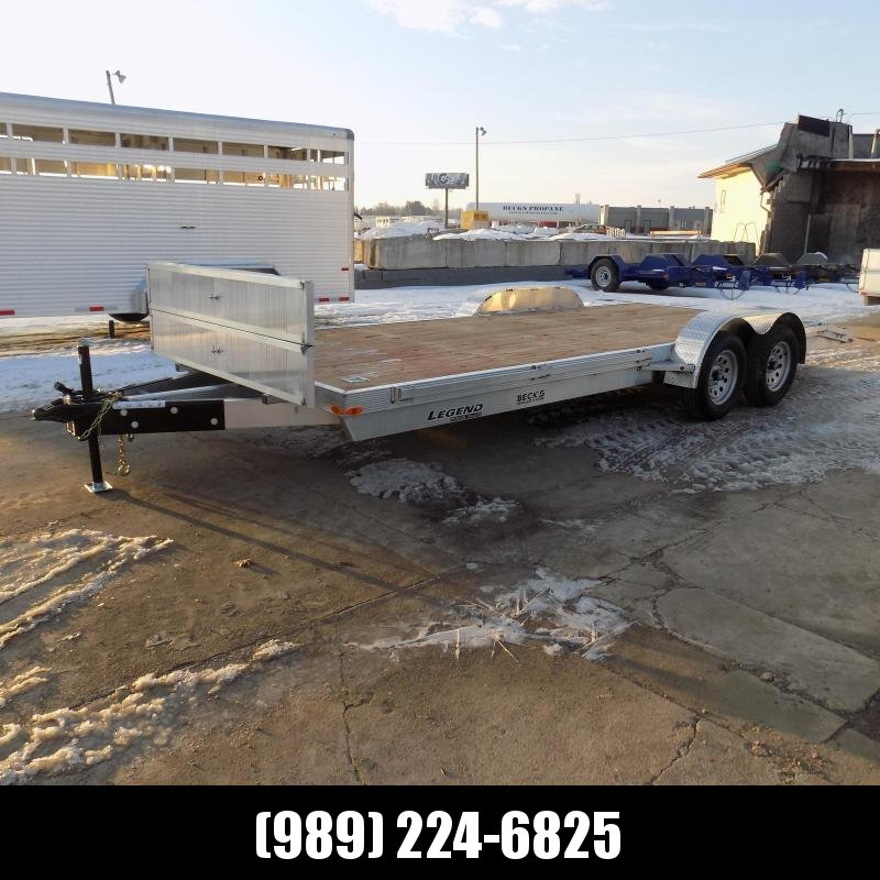 New Legend 7' x 20' Aluminum Open Car Hauler - Torsion Axles - $0 Down & Payments From $109/mo. W.A.C.