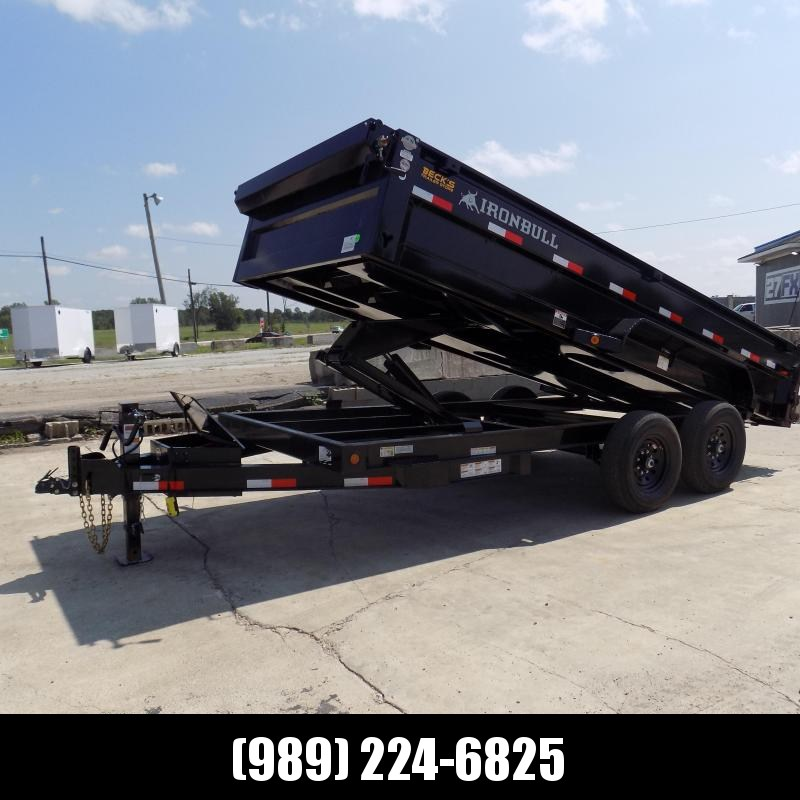 New Iron Bull 7' x 16' Dump Trailer - 7 Gage Floor - Flexible $0 Down Financing Available