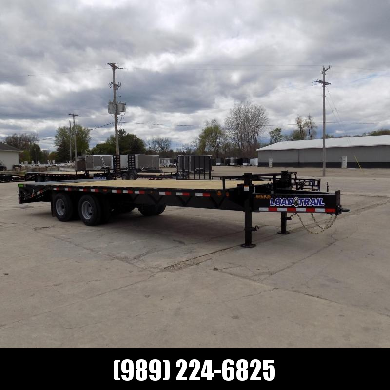 """New Load Trail 102"""" x 25' Pintle Hitch Equipment Trailer With 10K Axles - Flexible $0 Down Financing Available"""