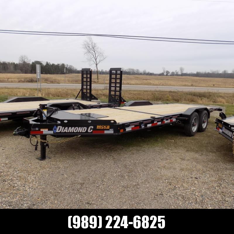 """New Diamond C Trailers 82"""" x 22' Heavy-Duty Tilt Deck Equipment Trailer - 10K Torsion Axles - $0 Down & Payments from $143/mo. W.A.C."""