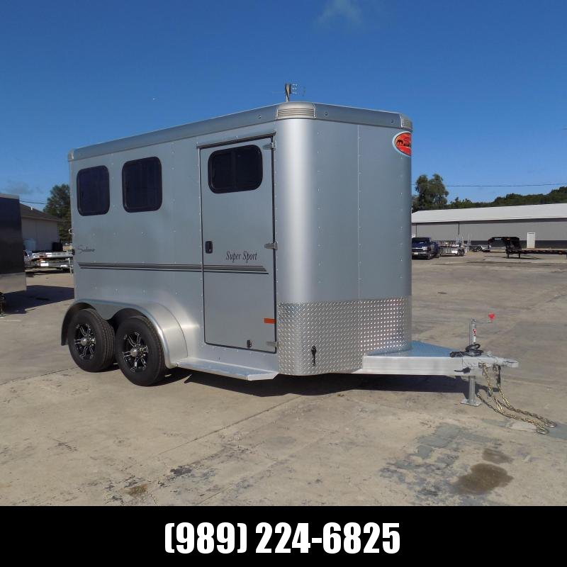"""New Sundowner 81"""" X 12"""" Super Sport Bumper Pull 2 Horse Trailer For Sale - $0 Down With Flexible Financing Available"""