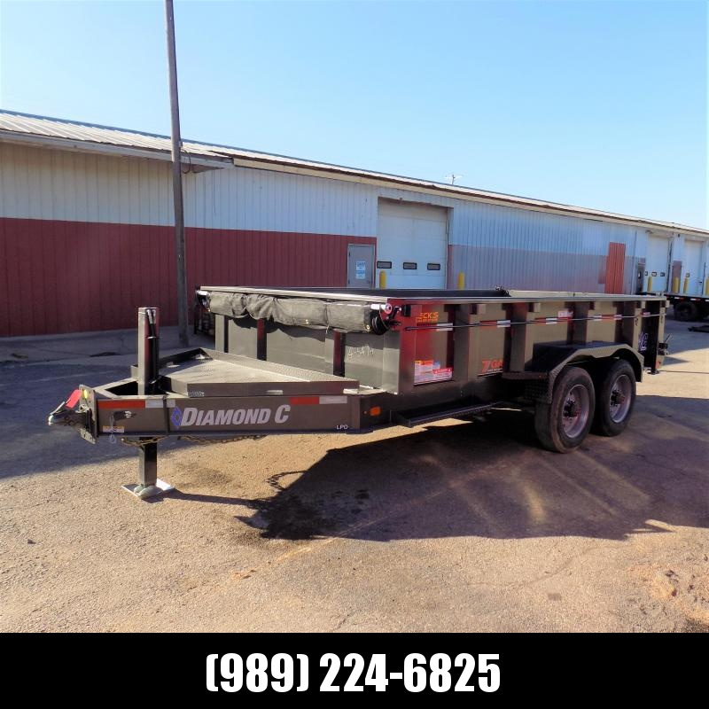 """New Diamond C 82"""" x 14' Low Profile Dump Trailer With 10K Torsion Axles & 7 Gage Floor & Sides - $0 Down Financing Available"""