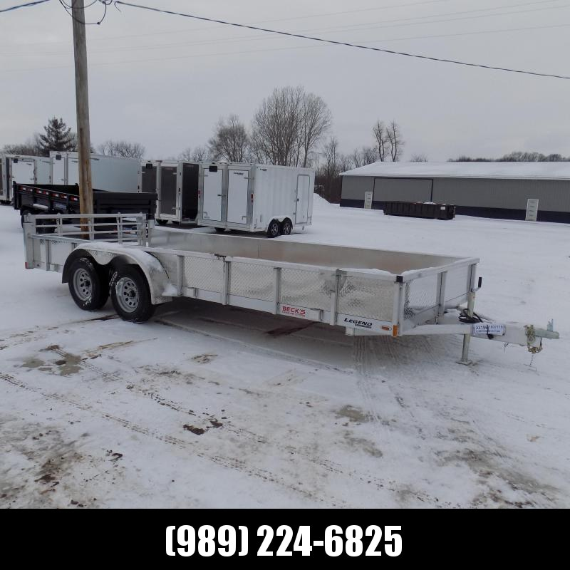 New Legend Open Deluxe 7' x 18' Aluminum Utility Trailer - $0 Down & Payments From $105/mo. W.A.C.