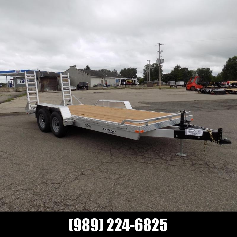 New Legend 7' x 18' Aluminum Equipment Trailer For Sale - $0 Down & Payments from $119/mo. W.A.C