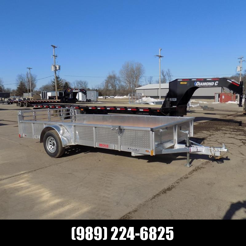 New Legend Open Deluxe 7' x 14' Aluminum Utility Trailer - $0 Down & Payments From $75/mo. W.A.C.