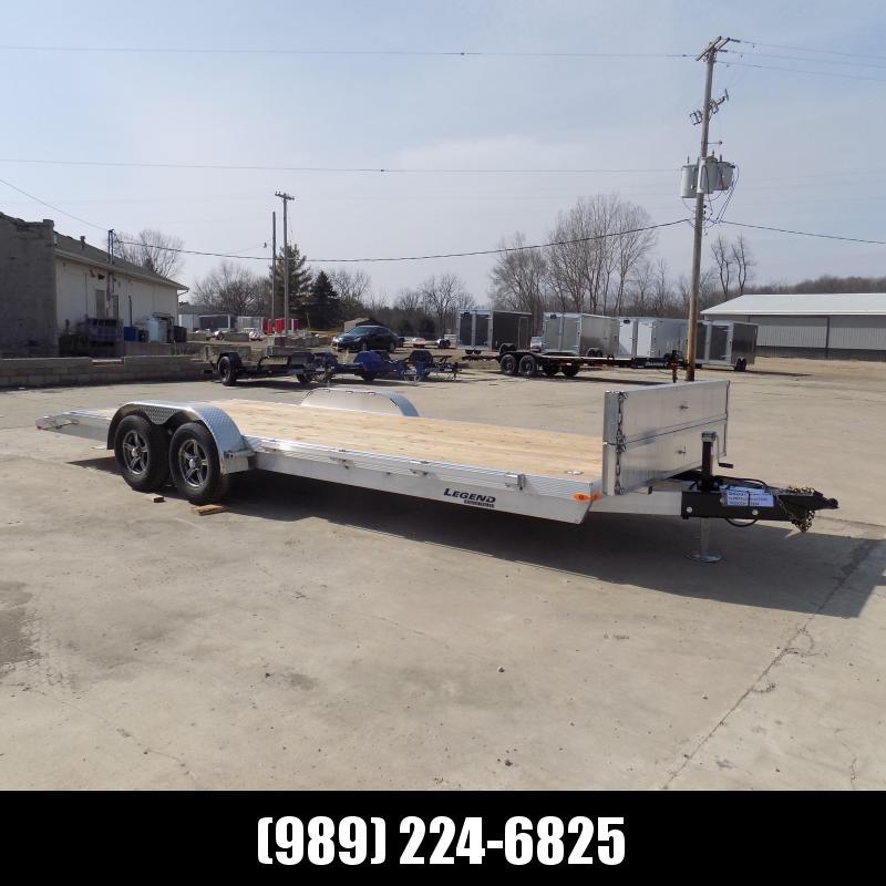 New Legend 7' x 22' Aluminum Open Car Hauler - Torsion Axles - $0 Down & Payments From $115/mo. W.A.C.