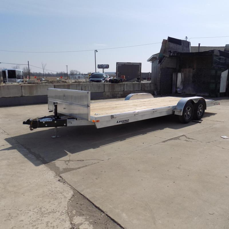 New Legend 7' x 22' Aluminum Open Car Hauler - Torsion Axles - $0 Down & Payments From $115/mo. W.A.C.