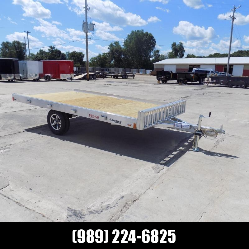 New Legend 7' x 12' Aluminum ATV Trailer For Sale - Easy To Load & Tow!