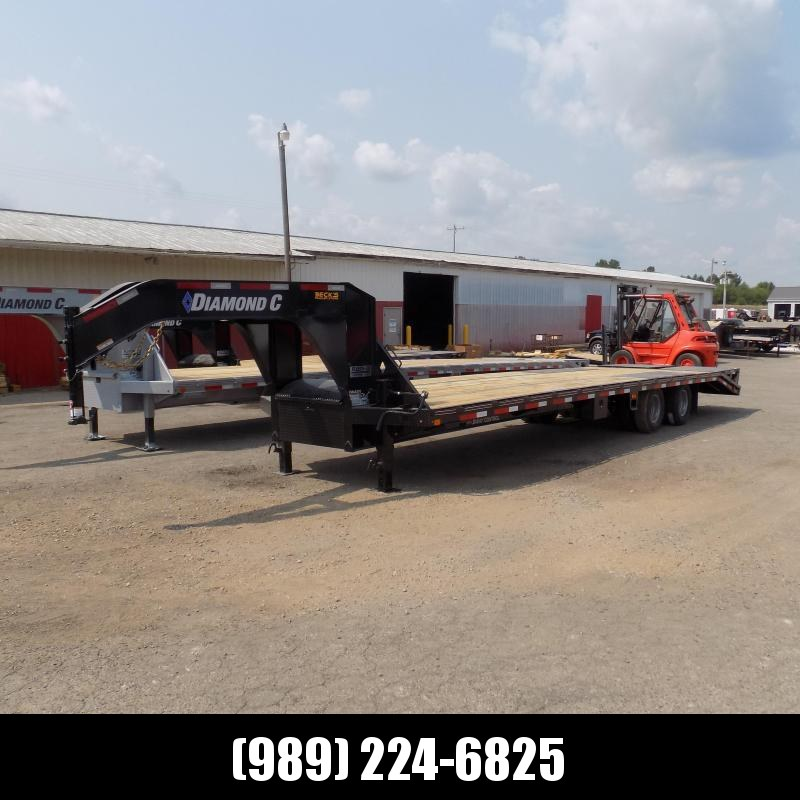 """New Diamond C Trailers 102"""" x 32' Gooseneck Equipment Trailer With 25K Weight Rating - $0 Down Financing Available"""