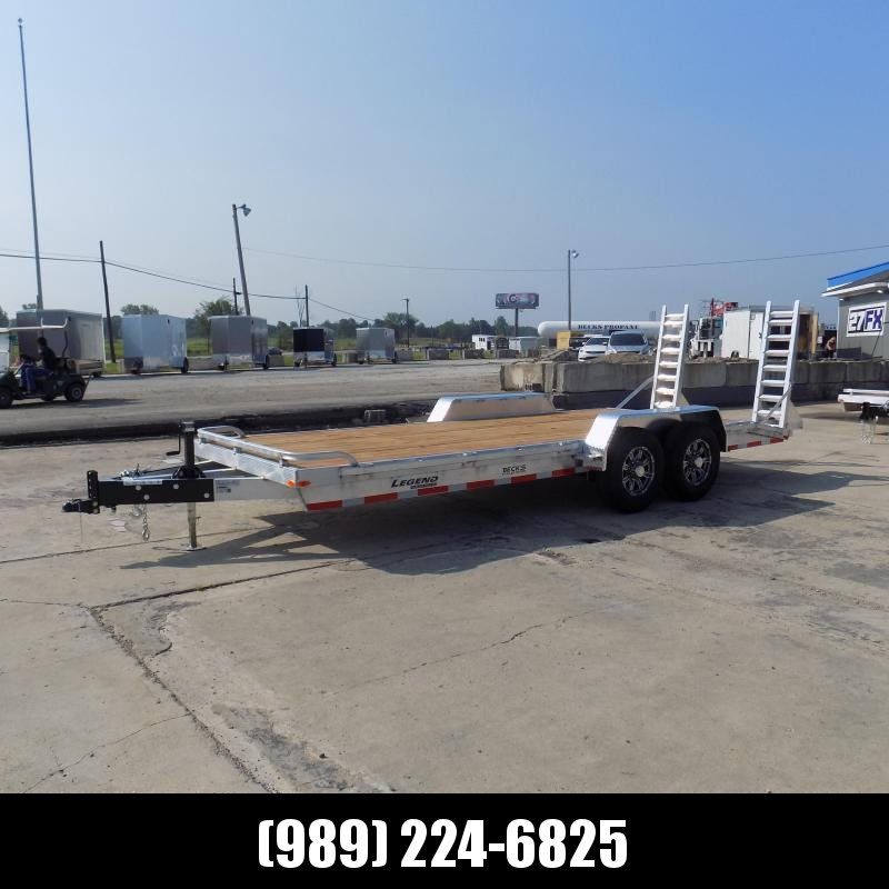 New Legend 7' x 20' Aluminum Equipment Trailer For Sale - 7000# Torsion Axles - $0 Down & Payments from $117/mo. W.A.C