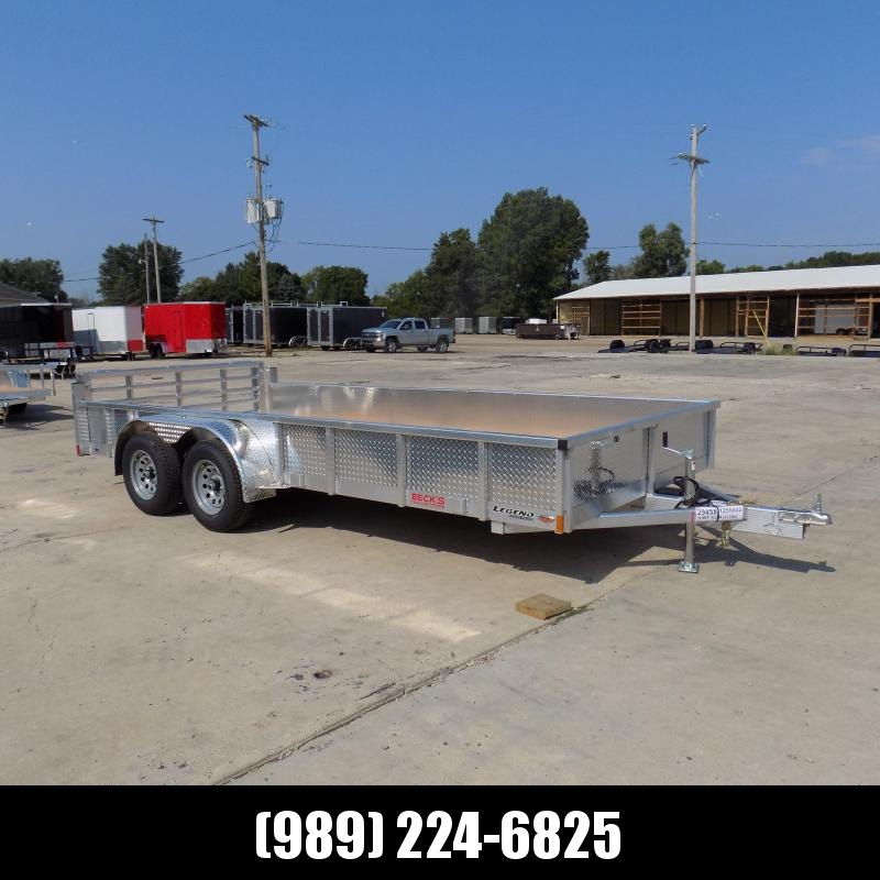 New Legend Open Deluxe 7' x 16' Aluminum Utility Trailer - $0 Down & Payments From $102/mo. W.A.C.