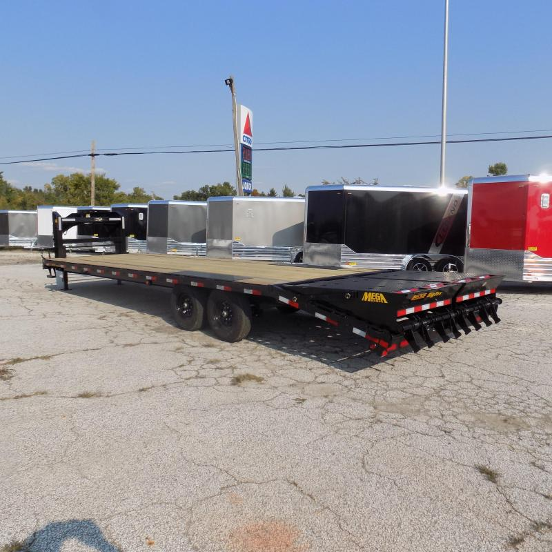 """New Big Tex Trailers 102"""" x 25'+5' Gooseneck Trailer With Mega Ramps - $0 Down & $129/mo. W.A.C."""