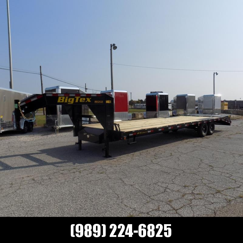 "New Big Tex Trailers 102"" x 25'+5' Gooseneck Trailer With Mega Ramps - $0 Down & $129/mo. W.A.C."