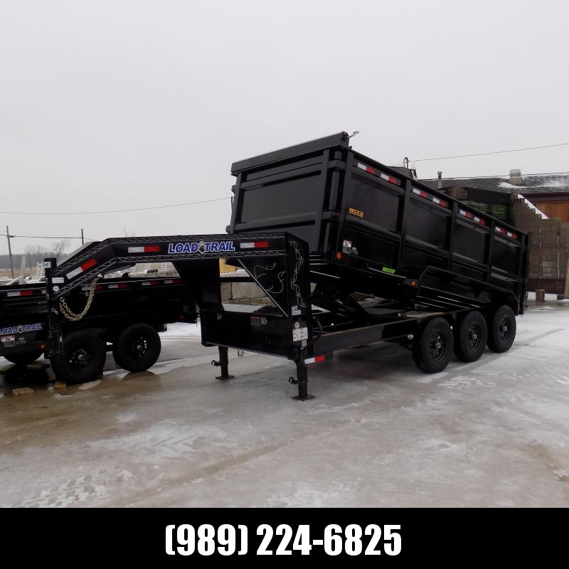 "New Load Trail 83"" X 16' Triple Axle Gooseneck Dump Trailer with 48"" Sides - $0 Down Financing Available"