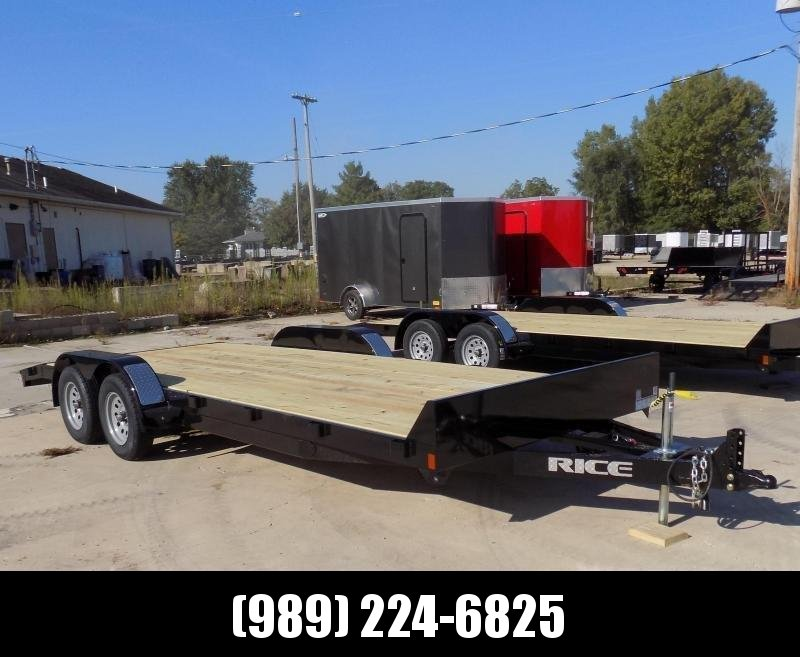 "New Rice Trailers 82"" x 20' Open Car Hauler - $0 Down & Payments From $79/mo. W.A.C. - Best Deal Guarantee"