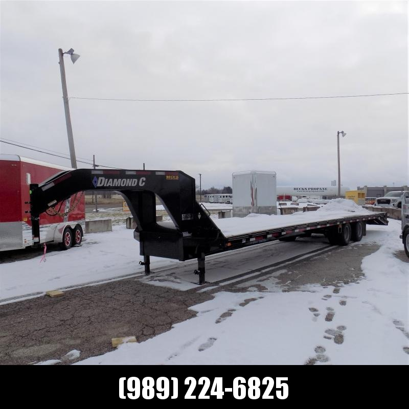 """New Diamond C Trailers 102"""" x 35' Gooseneck Equipment Trailer - 25K Weight Rating - $0 Down Financing Available"""
