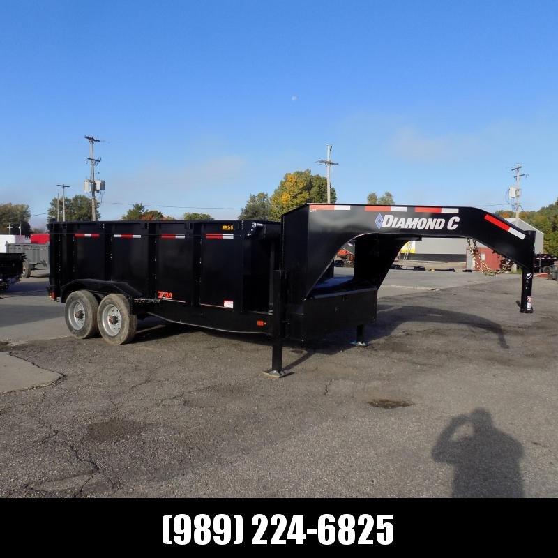 "New Diamond C 82"" x 14' Low Pro Gooseneck Dump Trailer W/ Telescopic Lift & 10K Torsion Axles - $0 Down Financing Available"