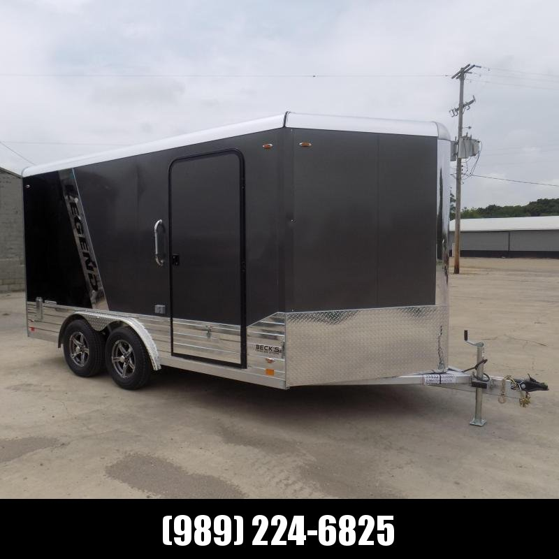 New Legend Deluxe V Nose 8' X 17' All Aluminum Cargo Trailer - $0 Down & Payments from $185/mo. W.A.C.
