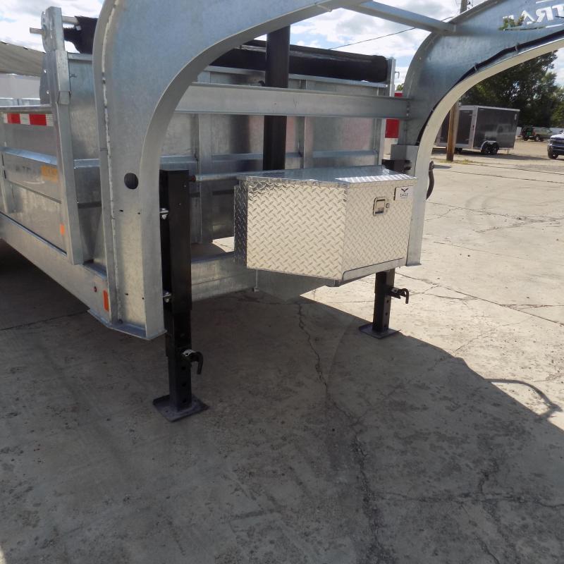 "New Galvanized 80"" x 16' Gooseneck Dump Trailer with 24K Telescopic Lift - Corrosion Resistant - $159/mo. W.A.C."