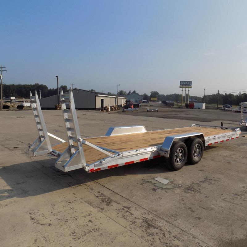 New Legend 7' x 24' Aluminum Open Car Hauler/Heavy Equipment Trailer - 7000# Torsion Axles - $0 Down & Financing Options Available