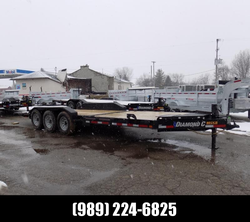 """New Diamond C HDT 82"""" x 24' Tilt Deck Equipment Trailer - 24K Weight Rating - $0 Down & Payments From $149/mo. W.A.C."""