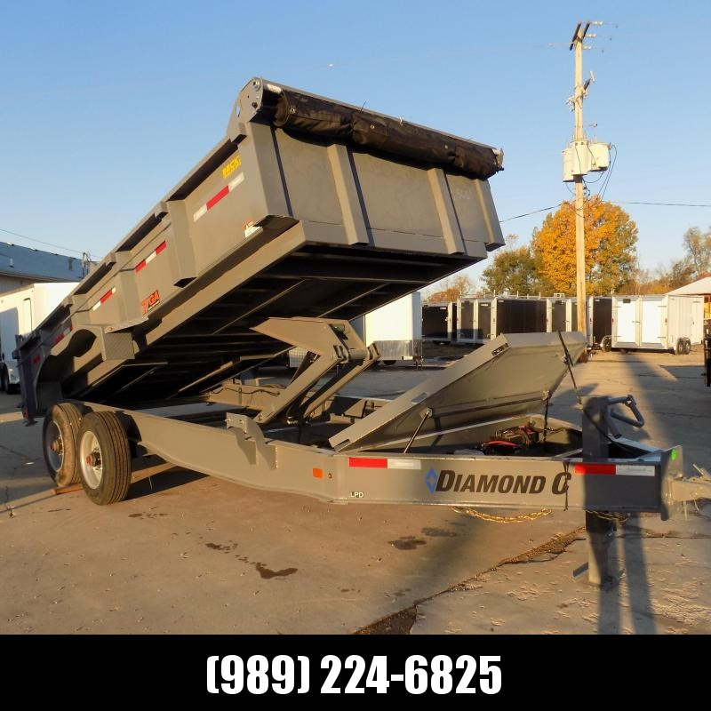 "New Diamond C 82"" x 16' Low Profile Dump Trailer With 10K Torsion Axles & 7 Gage Sides & Floor - $0 Down & Payments From $139/mo. W.A.C."