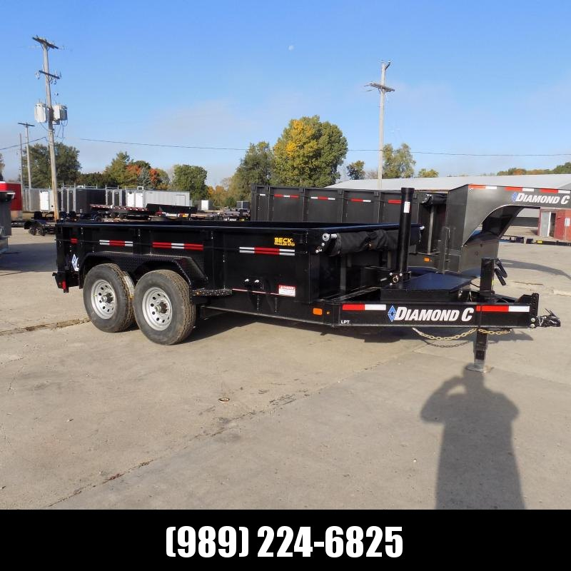"""New Diamond C Trailers 82"""" x 12' Low Profile Dump W/ Telescopic Lift - $0 Down & Payments from $135/mo. W.A.C."""