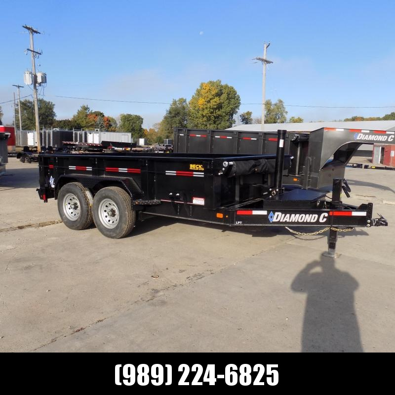 "New Diamond C Trailers 82"" x 12' Low Profile Dump W/ Telescopic Lift - $0 Down & Payments from $135/mo. W.A.C."