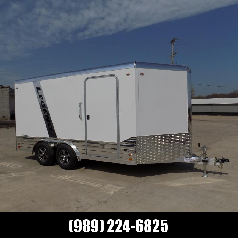 New Legend Deluxe V Nose 8' X 17' All Aluminum Cargo Trailer - $0 Down & Payments from $143/mo. W.A.C.