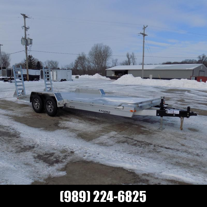 New Legend 7' x 20' Aluminum Equipment Trailer For Sale - $0 Down & Payments from $131/mo. W.A.C