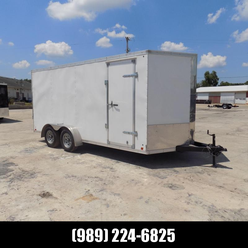Used Cross Trailers 7' x 18' Enclosed Cargo Trailer For Sale