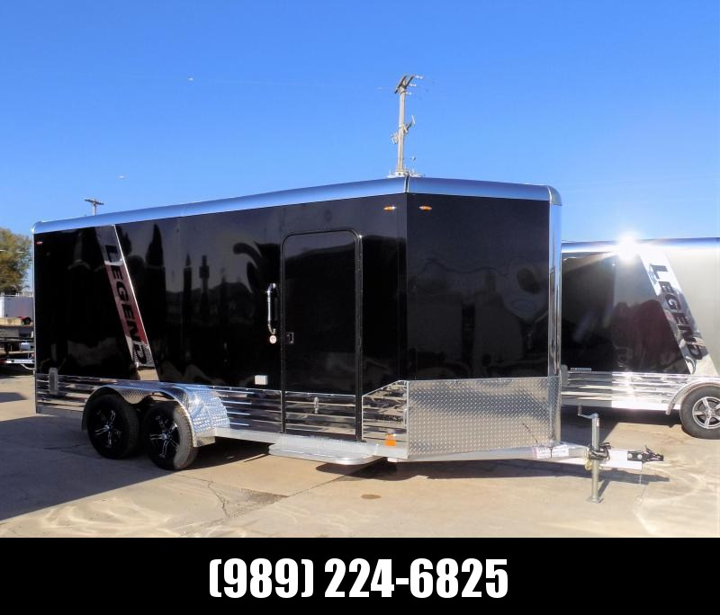 New Legend Deluxe V Nose 7' X 19' All Aluminum Cargo Trailer - $0 Down & Payments from $135/mo. W.A.C.