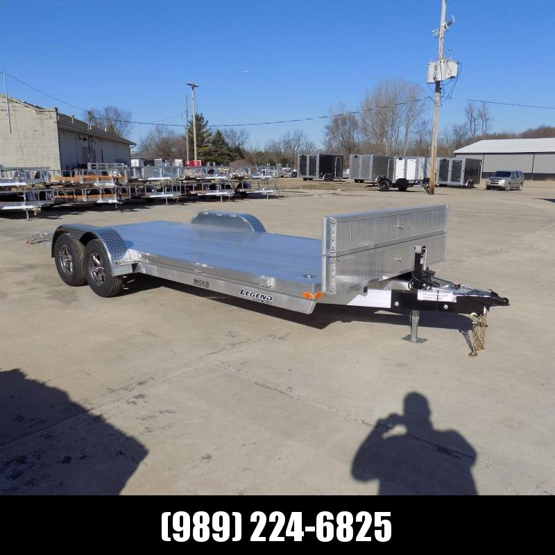 New Legend 7' x 20' Aluminum Open Car Hauler - Torsion Axles - $0 Down & Payments From $129/mo. W.A.C.