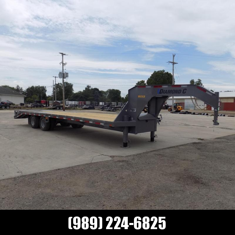 "New Diamond C Trailers 102"" x 30' Gooseneck Equipment Trailer With 25.9K Weight Rating"