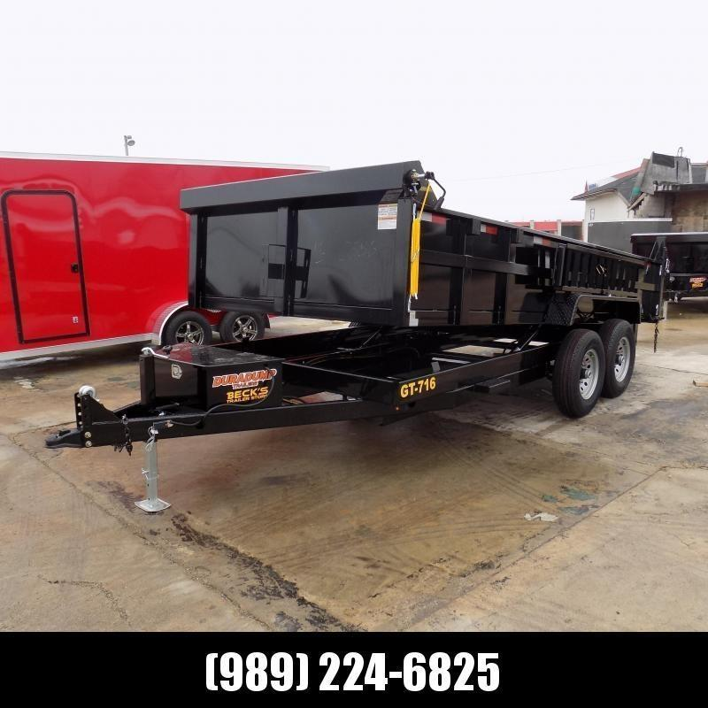 New DuraDump 7' x 16' Dump Trailer For Sale - $0 Down & Payments From $129/mo. W.A.C.