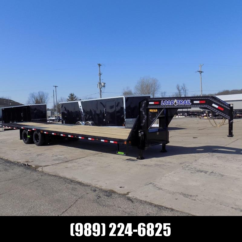"New Load Trail 102"" x 34' Low Profile Gooseneck Equipment Trailer With Hydraulic Dove & Hydraulic Disc Brakes - $0 Down Financing"
