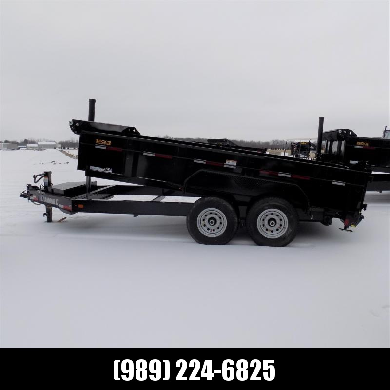 "New Diamond C LPT 82"" x 14' Low Profile Dump W/ Telescopic Lift - $0 Down & $135/mo. W.A.C."