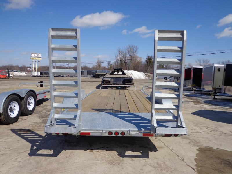 "New Galvanized 83"" x 18' Car/Equipment Trailer - Corrosion Resistant"