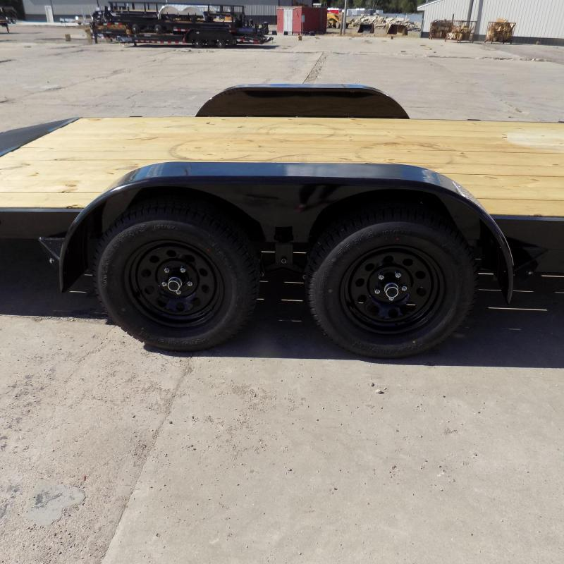 """New Rice Trailer 82"""" x 18' Open Car Hauler - $0 Down & Payments From $109/mo. W.A.C."""