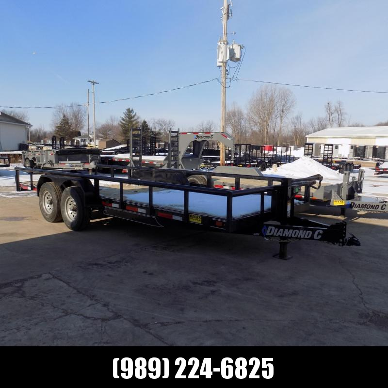 """New Diamond C 82"""" x 20' Extreme Duty Utility Trailer w/ 7K Axles - $0 Down & Payments From $123/mo. W.A.C."""
