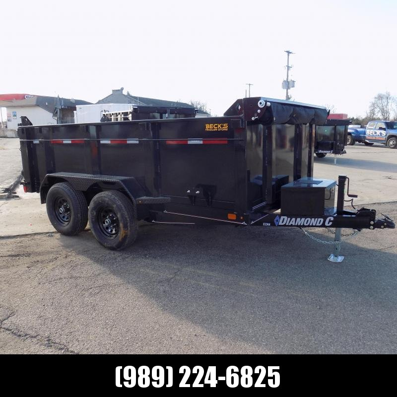 """New Diamond C Trailers 6.5' x 12' Dump Trailer With 32"""" Sides - $0 Down & Payments from $118/mo. W.A.C."""
