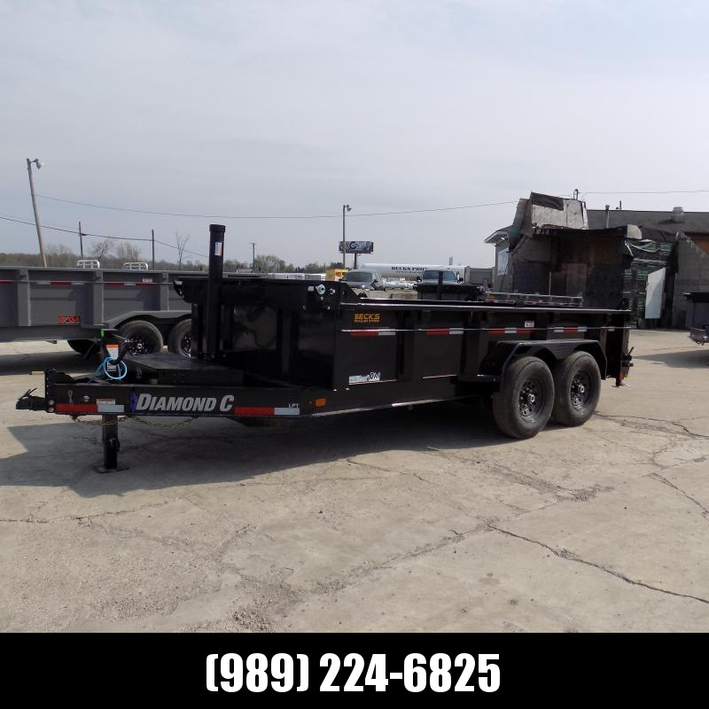 """New Diamond C Trailers 82"""" x 14' Low Profile Dump W/ Telescopic Lift - $0 Down & Payments From $143/mo. W.A.C."""