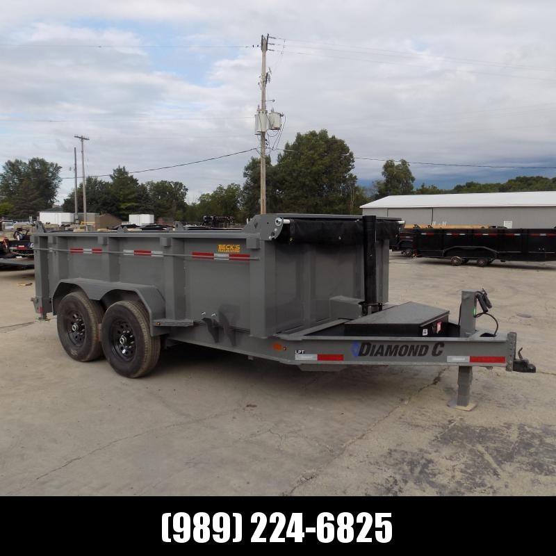 New Diamond C Trailers 7' x 12' Low Profile Dump Trailer - 32'' Sides - Financing Available