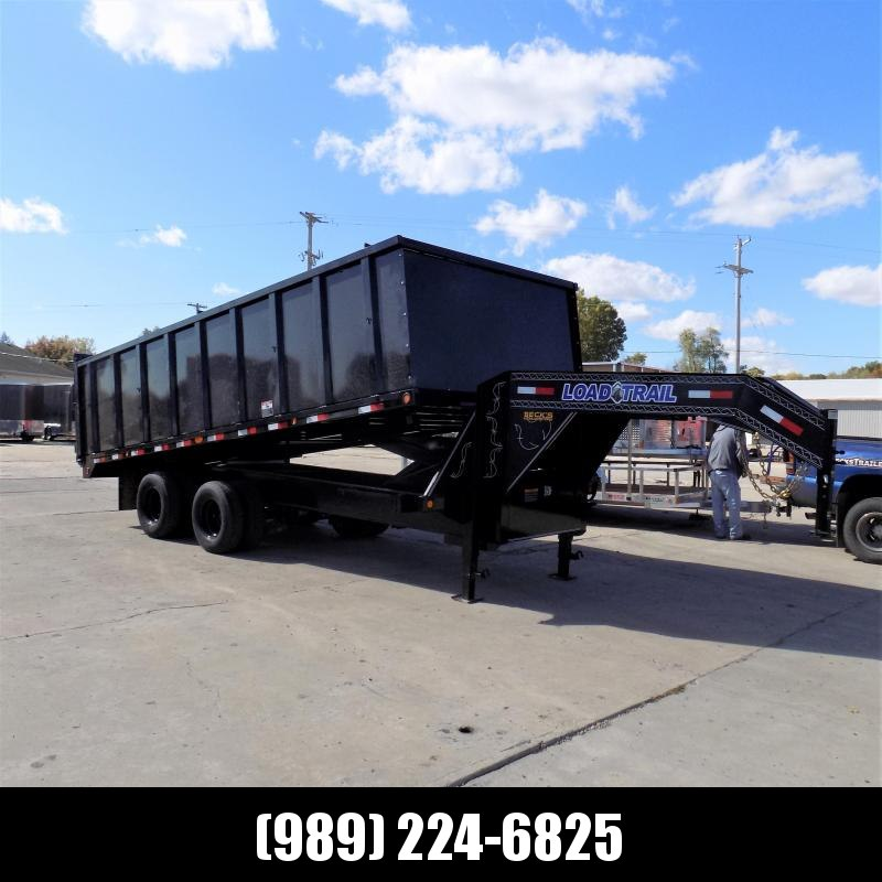 "New Load Trail 7' x 20' Gooseneck Dump Trailer With 48"" Sides & 10K Axles - $0 Down Financing Available"