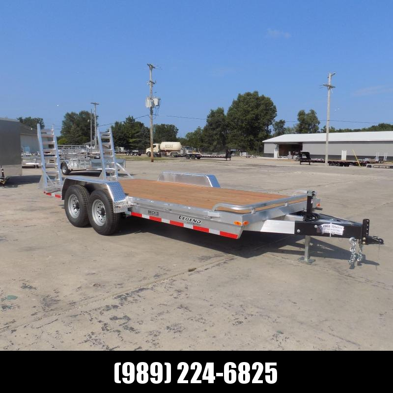 New Legend 7' x 18' Aluminum Equipment Trailer For Sale  - $0 Down & Payments from $133/mo. W.A.C