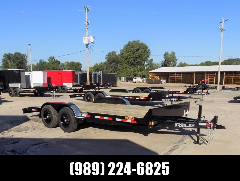 "New Rice Trailers 82"" x 18' Open Car Hauler With 5200# Axles - $0 Down & Payments From $105/mo. W.A.C."