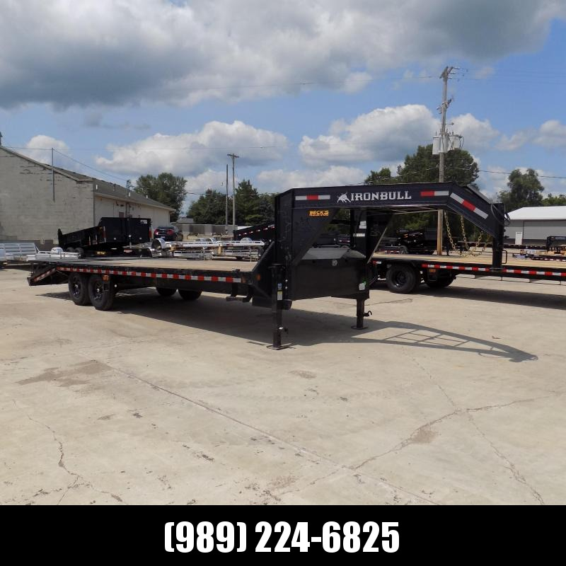 """New Iron Bull Trailer 102"""" x 25'' Gooseneck Trailer With Max Ramps - $0 Down & $173/mo. W.A.C."""