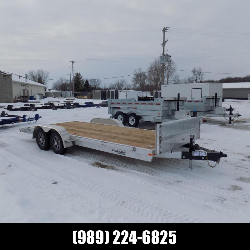 New Legend 7' x 20' Aluminum Open Car Hauler - Torsion Axles - $0 Down & Payments From $119/mo. W.A.C.