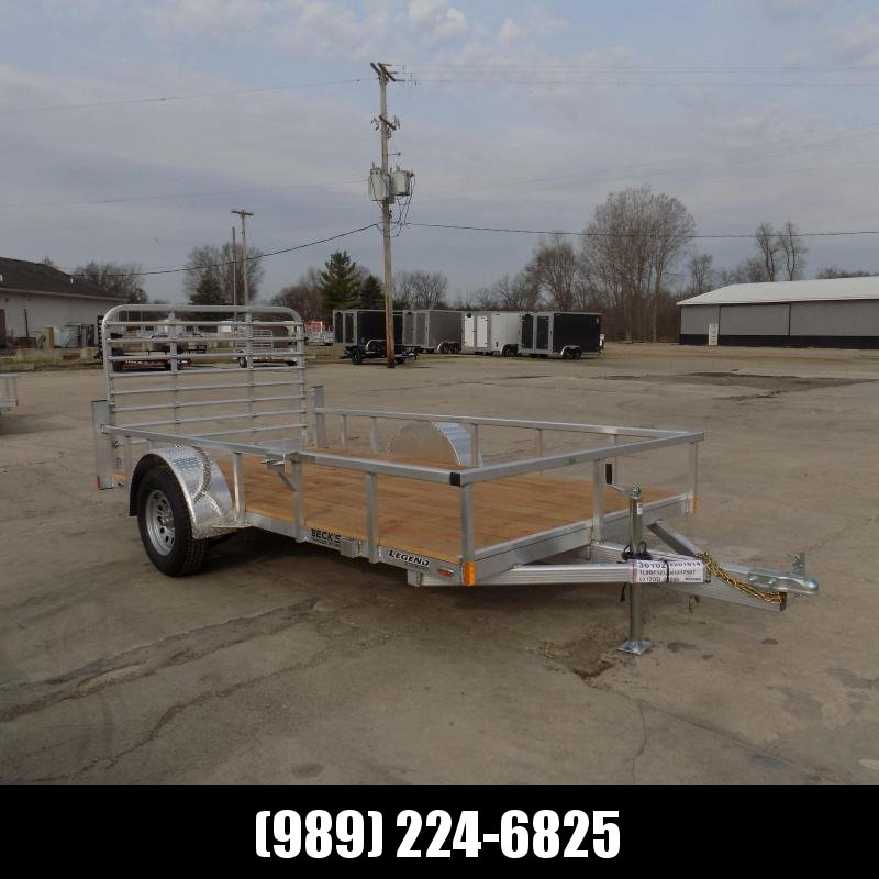 New Legend Open Deluxe 6' x 12' Aluminum Utility - $0 Down & Payments From $72/mo. W.A.C.